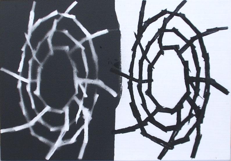 Black on white, white on black pattern