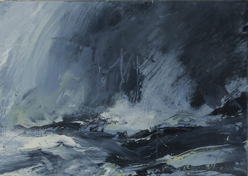 Blue and blackish violent seascape