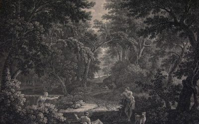 William Woollett and John Browne – Clearing in a Forest