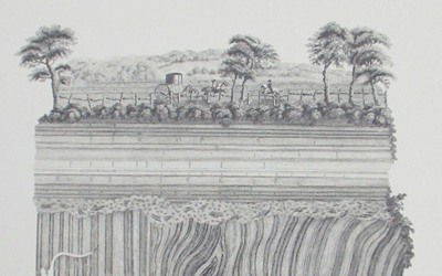 John Clerk of Eldin – Unconformity at Jedburgh, Borders (engraving)