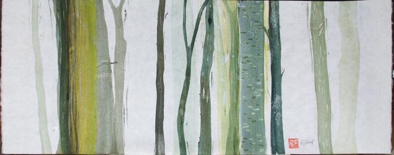 Impressionist view of garden plot