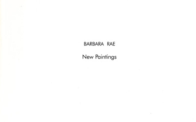 Barbara Rae New Paintings