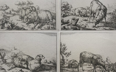 Marcus de Bye – Group of Four Sheep prints