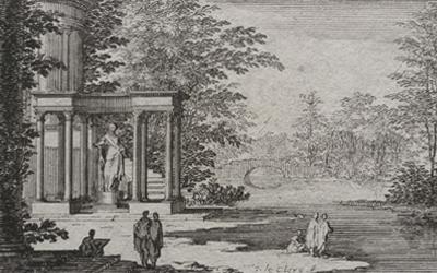 Sebastien Leclerc – River Landscape with Classical Temple