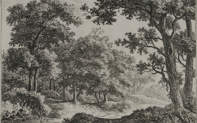 Antonie Waterloo – Two Boys and their Dogs in a Wood